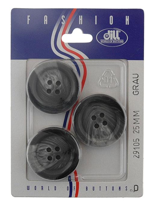 Пуговицы Dill, диаметр 25 мм, пластик, 3 шт. 029105/25-3029105/25-3