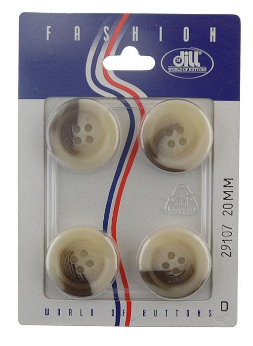Пуговицы Dill, диаметр 20 мм, пластик, 4 шт. 029107/20-4029107/20-4