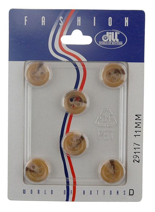 Пуговицы Dill, диаметр 11 мм, пластик, 6 шт. 029117/11-6029117/11-6