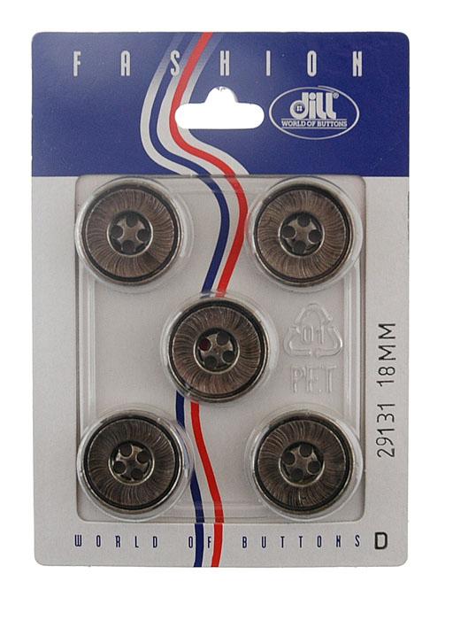 Пуговицы Dill, диаметр 18 мм, пластик, 5 шт. 029131/18-5029131/18-5