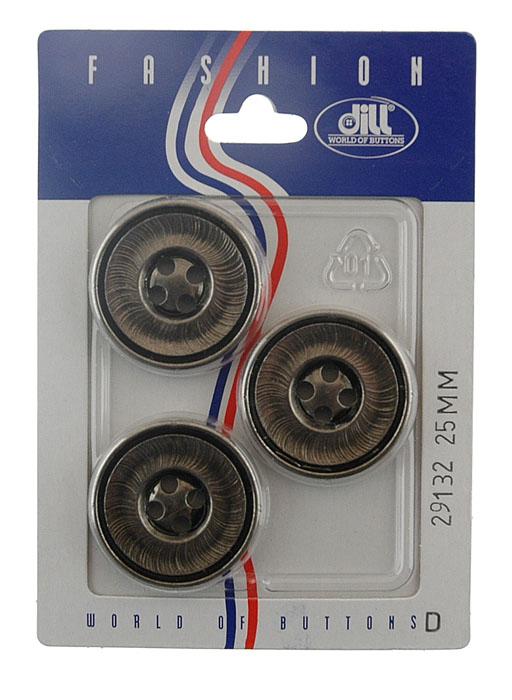 Пуговицы Dill, диаметр 25 мм, пластик, 3 шт. 029132/25-3029132/25-3