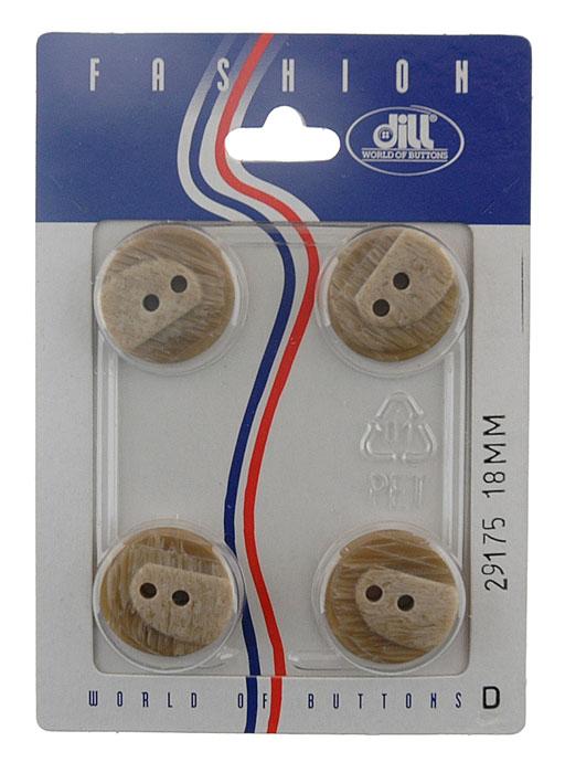 Пуговицы Dill, диаметр 18 мм, пластик, 4 шт. 029175/18-4029175/18-4