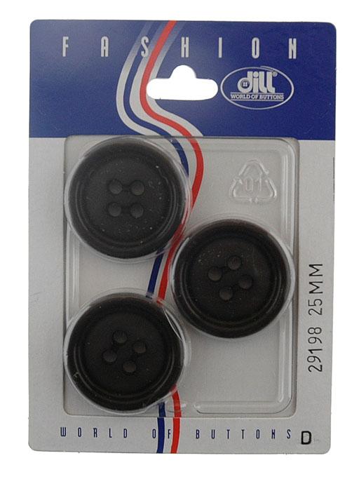 Пуговицы Dill, диаметр 25 мм, пластик, 3 шт. 029198/25-3029198/25-3