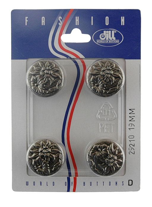 Пуговицы Dill, диаметр 19 мм, пластик, 4 шт. 029210/19-4029210/19-4