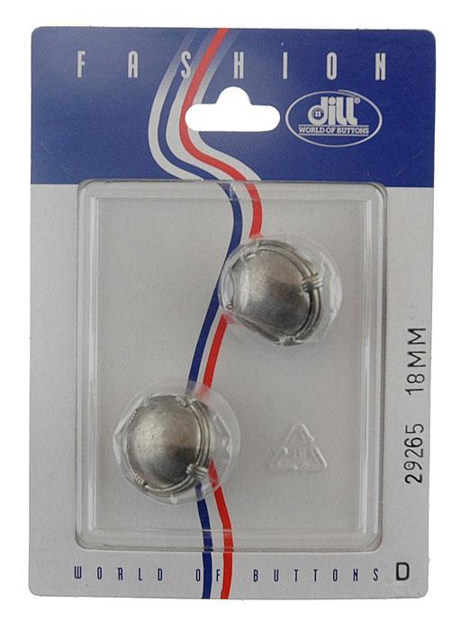Пуговицы Dill, диаметр 18 мм, металл, 2 шт. 029265/18-2029265/18-2