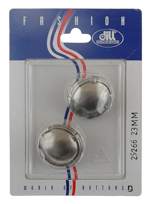 Пуговицы Dill, диаметр 23 мм, металл, 2 шт. 029266/23-2029266/23-2