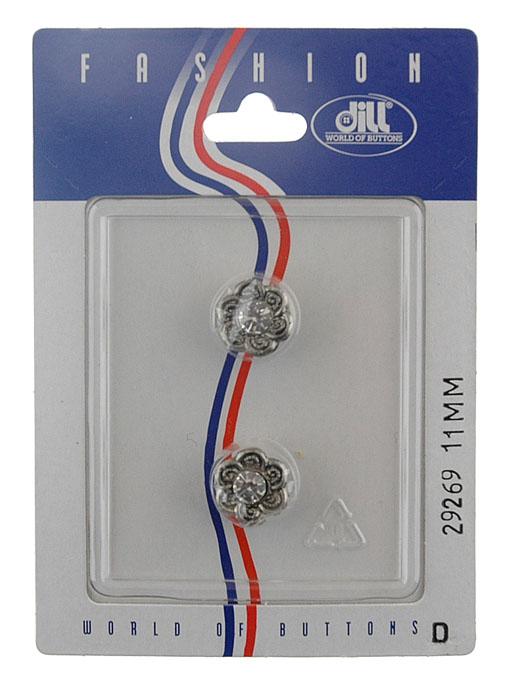 Пуговицы Dill, диаметр 11 мм, пластик, 2 шт. 029269/11-2029269/11-2