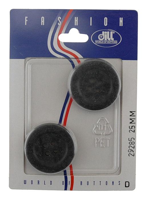 Пуговицы Dill, диаметр 25 мм, пластик, 2 шт. 029285/25-2029285/25-2