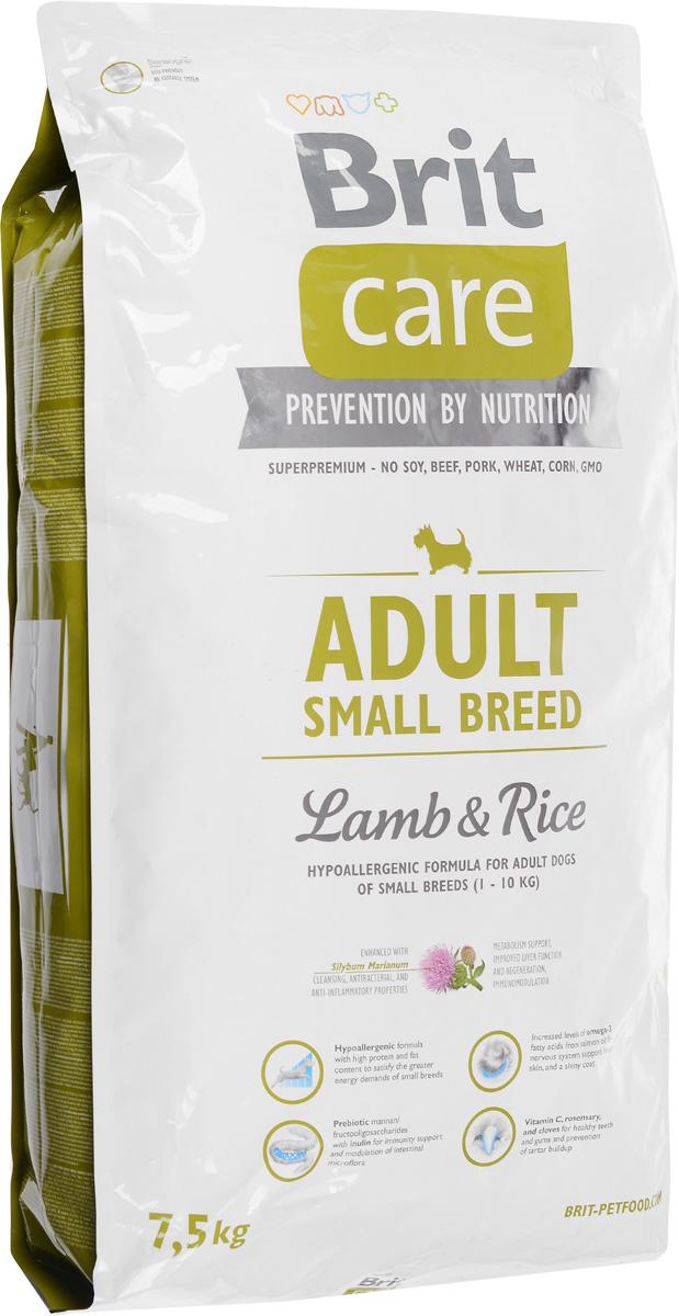 Корм сухой Brit Care Adult Small Breed для собак мелких пород, с ягненком и рисом, 7,5 кг100201Сухой корм Brit Care Adult Small Breed - это полноценный рацион для собак мелких пород. Оптимальное соотношение Омега-3 и Омега-6 жирных кислот с органическим цинком и медью обеспечивает здоровое состояние кожи и улучшает качество шерсти. Состав: баранина, цыпленок, рис, куриный жир (консервированный при помощи токоферолов), жир лосося, натуральные ароматы, хлопья риса, сушеная мякоть репы, пивные дрожжи, сушеные яичные продукты, экстракт из юкки шидигеры, сушеные яблоки, минералы,глюкозоамин гидрохлорид, сульфат хондроитина, ДЛ-метионин, Л-лизин, олигосахарид маннана, фрукто-олигосахариды, сульфат пентогидрат меди, ниацин, кальций пантотенат, фолиевая кислота, хлорид холина, биотин, витамин А, витамин Д3, витамин Е. Аналитические составляющие: белки 28 %, жиры 17 %, влажность 10 %, сырая зола 7 %, клетчатка 2,5 %, кальций 1,6 %, фосфор 1,2 %. Добавки на кг: витамин А: 20000; витамин D3: 1500; витамин Е: 500 мг/кг; железо: 80; йод: 0,65; медь: 20. Товар...