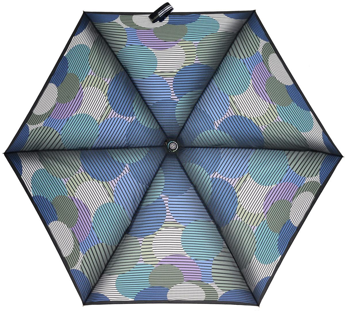 Зонт женский Henry Backer, 5 сложений, цвет: мультиколор. U34203 Big peas