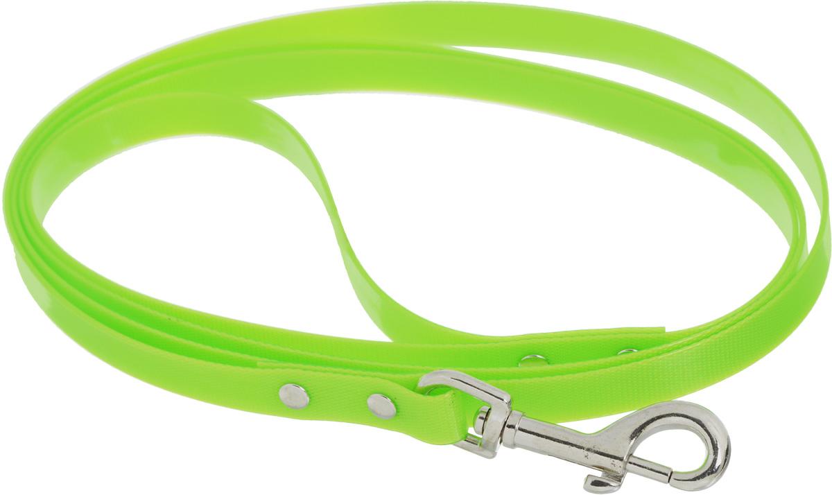 """Поводок для собак Каскад """"Синтетик"""", цвет: салатовый, ширина 1,5 см, длина 2 м"""