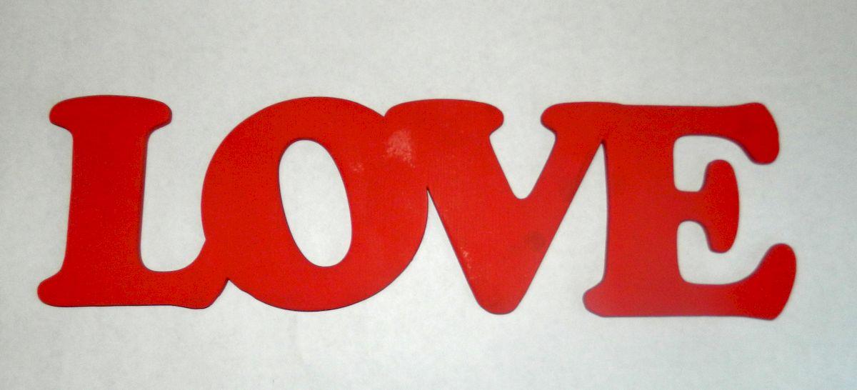 Табличка LOVE, цвет: красный06.112.03Цветная деревянная табличка для оформления свадебного торжества и проведения фотосессий