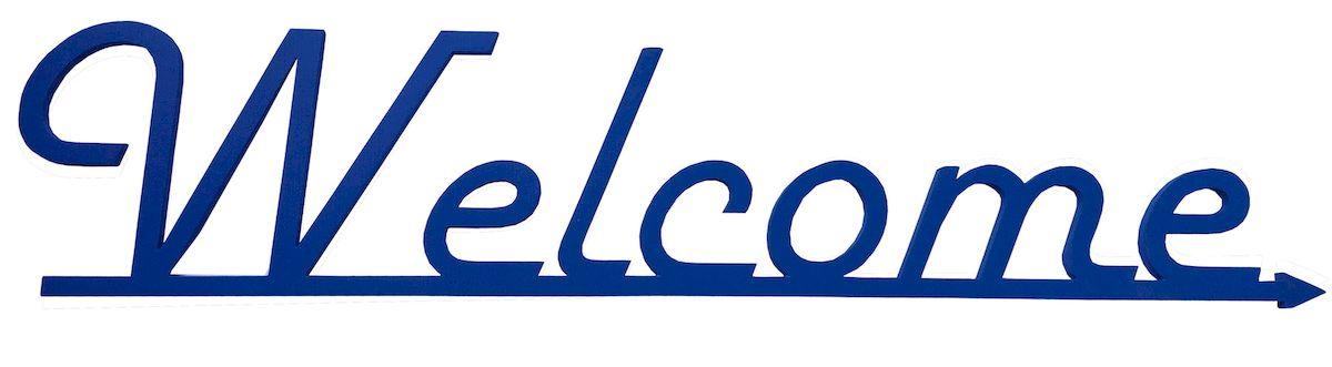 Табличка Welcome, цвет: синий06.120.02Цветная деревянная табличка для оформления свадебного торжества и проведения фотосессий
