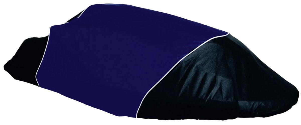 Чехол AG-brand, для гидроцикла Yamaha SuperJetAG-YAM-WV-SJ-TC_черный, синийЧехол AG-brand предназначен для хранения и транспортировки гидроцикла Yamaha SuperJet. Он изготовлен из высокопрочной плотной тентовой ткани с высоким показателем водоупорности. По нижней кромке чехла вшита плотная резинка, обеспечивающая надежную фиксацию на гидроцикле. Чехол имеет светоотражающий кант. В комплект транспортировочного чехла входит прочная текстильная стропа для крепления техники в прицепе или специальном боксе для перевозки. Чтобы любое транспортное средство служило долгие годы, необходимо не только соблюдать все правила его эксплуатации, но и правильно его хранить. Негативное влияние на состояние техники оказывают прямые солнечные лучи, влага, пыль, которые не только могут вызвать коррозию внешних металлических поверхностей, но и вывести из строя внутренние механизмы транспортных средств. Необходимо создать условия для снижения воздействия этих негативных факторов. Именно для этого и предназначены чехлы. Чехол для...