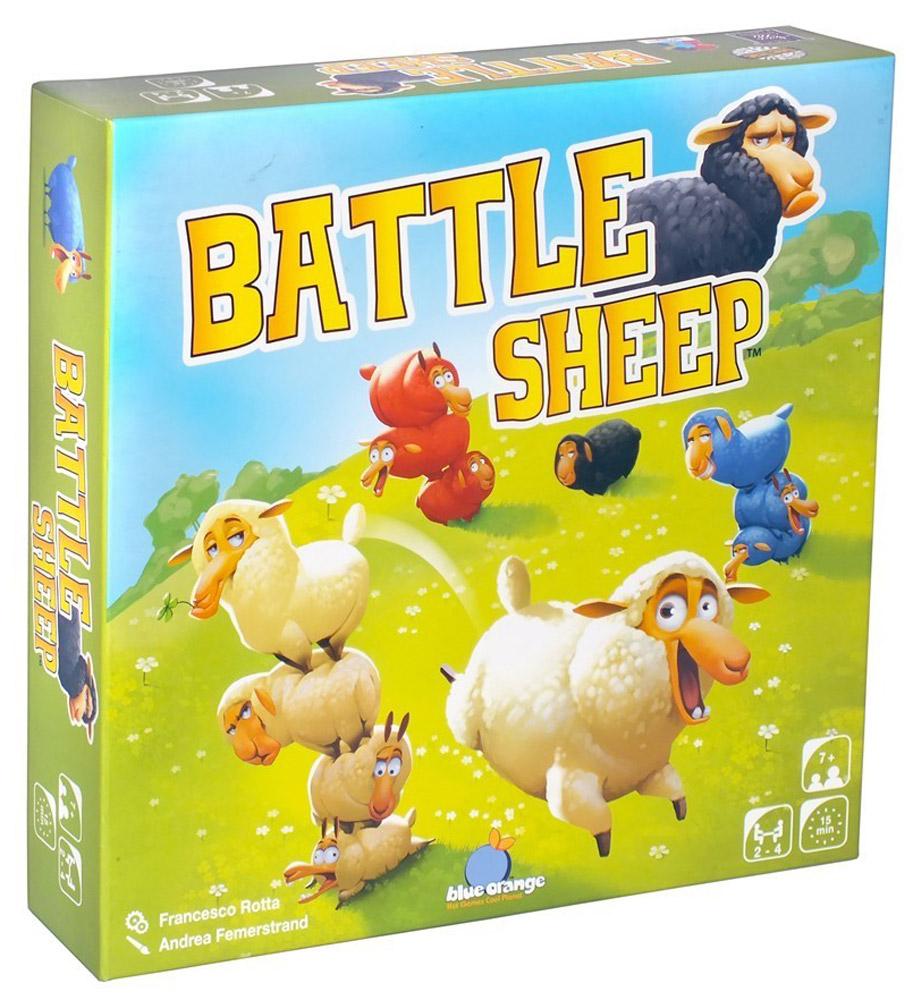 Blue Orange Настольная игра Боевые овцы3770000904178Настольная игра Blue Orange Боевые овцы - это абстрактная настольная игра с простыми правилами. Возглавь битву на пастбище! Чтобы занять своими овечками большую часть поля, вам придется постараться! Безошибочная тактика, хитроумные маневры, промахи соперников - победа придет к тому, чьи овцы к концу игры займут больше гексов! Время игры: 15 минут. Состав игры: 16 шестиугольных гексов пастбища, 64 фишки овец.
