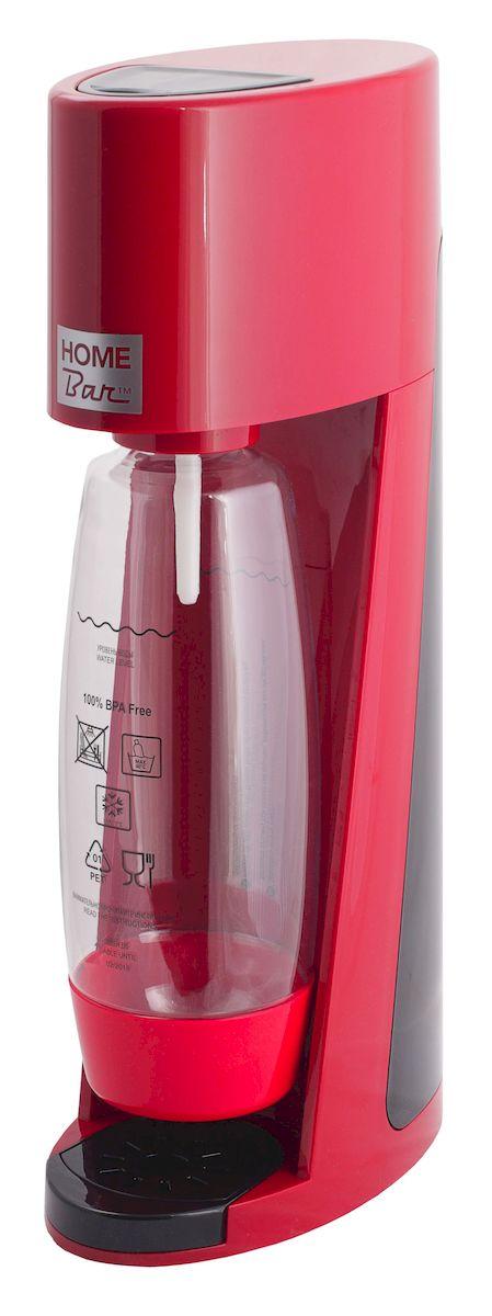 Сифон Home Bar Elixir Turbo NG, без баллона, цвет: красный, черныйElixirTurboNG redСифон для газирования воды Home Bar Elixir Turbo NG - это модель класса люкс в линейке аппаратов Home Bar. Благодаря усовершенствованной системе газирования Турбо выброс газа стал больше, а специальная бутылка каплевидной формы обеспечивает быстрое и полное растворение углекислого газа в воде. Сифон предназначен для газирования чистой охлажденной воды. Рекомендуемая температура воды 5°С. Чтобы приготовить газированный напиток или коктейль, добавьте в газированную воду сироп (продаются отдельно). Особенности: - Автоматический сброс давления. - 3 уровня газирования воды (слабый, средний, сильный). - Не требует электроэнергии. - Совместим с баллонами SODASTREAM. - Вкручивающийся разъем для установки баллона. - Состав бутылки не содержит бисфенол A. - Совместимость с 1 л и 1,5 л бутылкой. - Съемный поддон для капель. Для использования сифона требуется баллон 425 г на 60 литров воды. Приобретается...