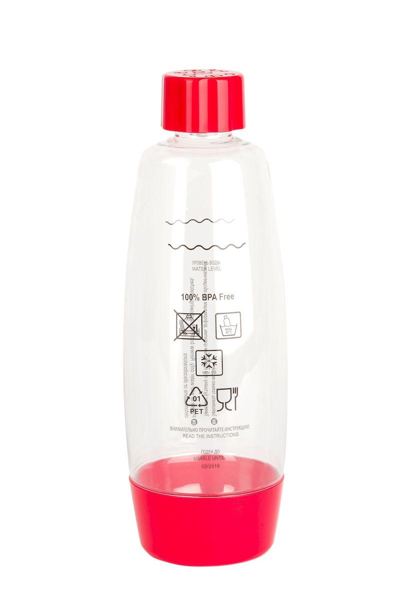 Бутылка для газирования воды Home Bar, цвет: красный, прозрачный, 1,5 лBottle 1.5L NG redБутылка для газирования воды Home Bar изготовлена из высококачественной пластмассы без использования бисфенола А (BPA). Предназначена для использования в аппаратах для газирования воды и хранения готовых газированных напитков. Устойчива к высокому давлению. Совместима со всеми аппаратами для приготовления напитков Home Bar. Диаметр бутылки: 10 см. Высота: 29 см.