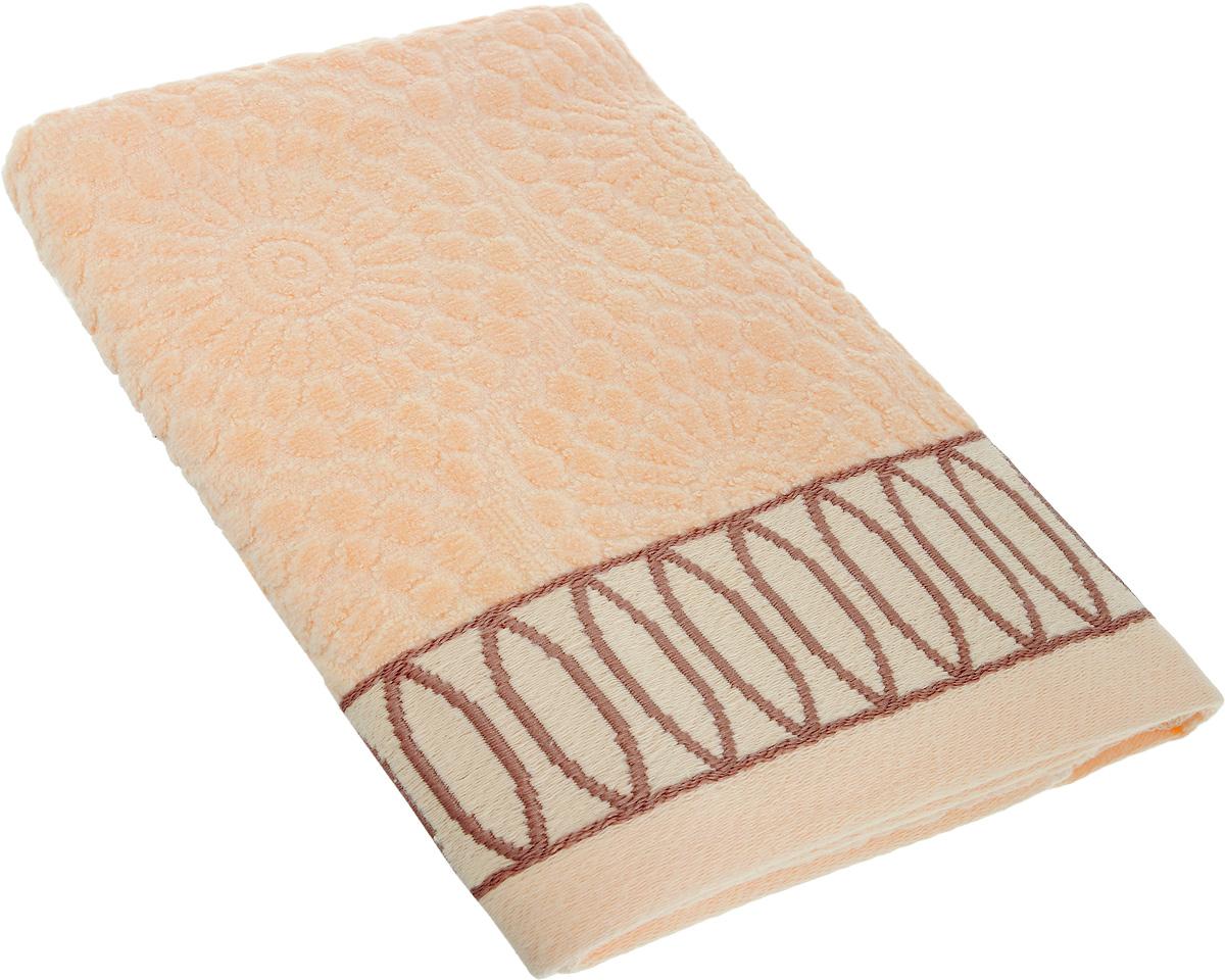 Полотенце Arya Caro, цвет: персиковый, 50 х 100 смF0003378_персиковыйПолотенце Arya Caro выполнено из 100% хлопка. Изделие отлично впитывает влагу, быстро сохнет, сохраняет яркость цвета и не теряет форму даже после многократных стирок. Такое полотенце очень практично и неприхотливо в уходе. Оно создаст прекрасное настроение и украсит интерьер в ванной комнате.