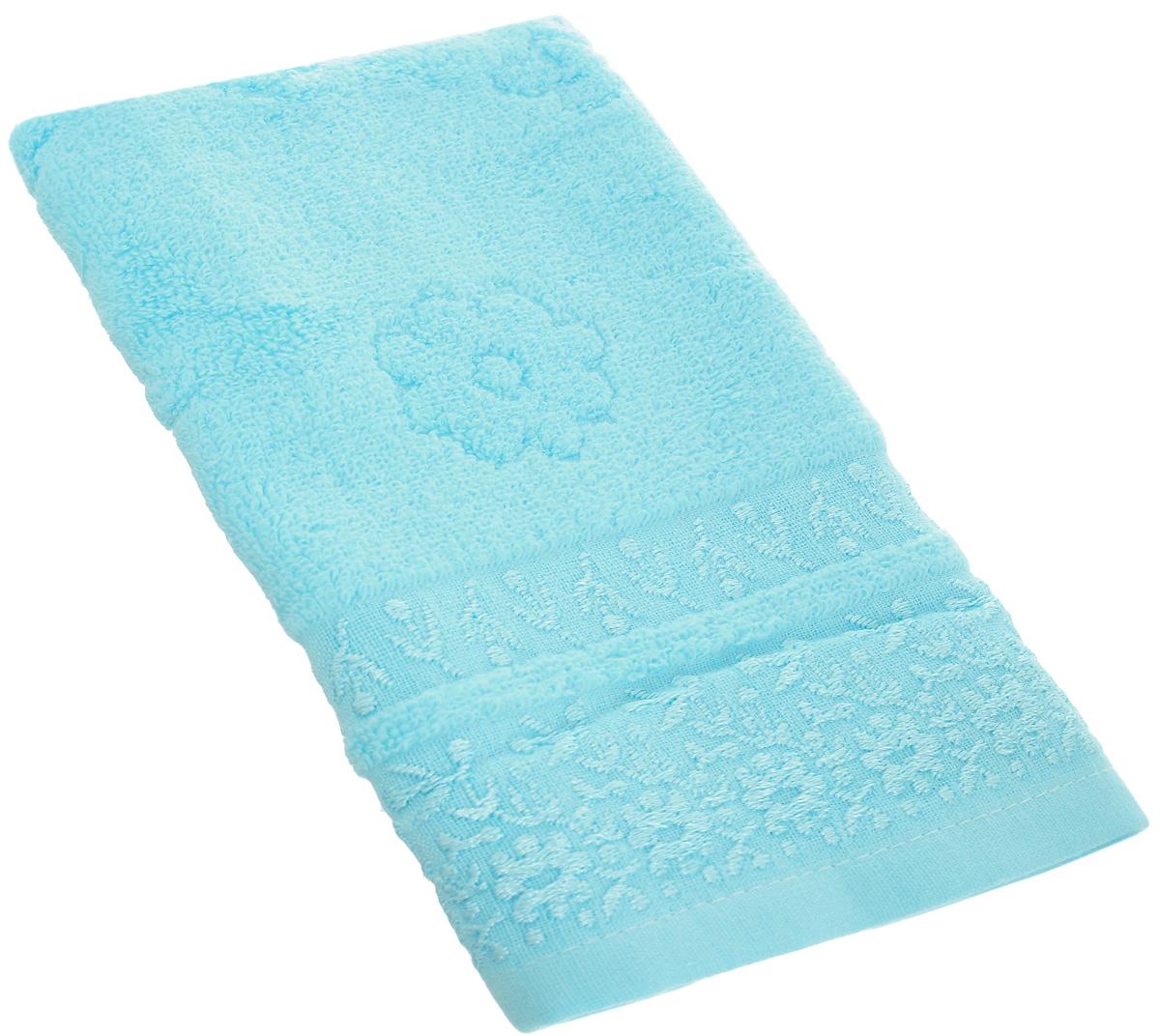 Полотенце Arya Finestra, цвет: голубой, 30 х 50 смF0007484_голубойПолотенце Arya Punto выполнено из 100% хлопка. Изделие отлично впитывает влагу, быстро сохнет, сохраняет яркость цвета и не теряет форму даже после многократных стирок. Такое полотенце очень практично и неприхотливо в уходе. Оно создаст прекрасное настроение и украсит интерьер в ванной комнате.