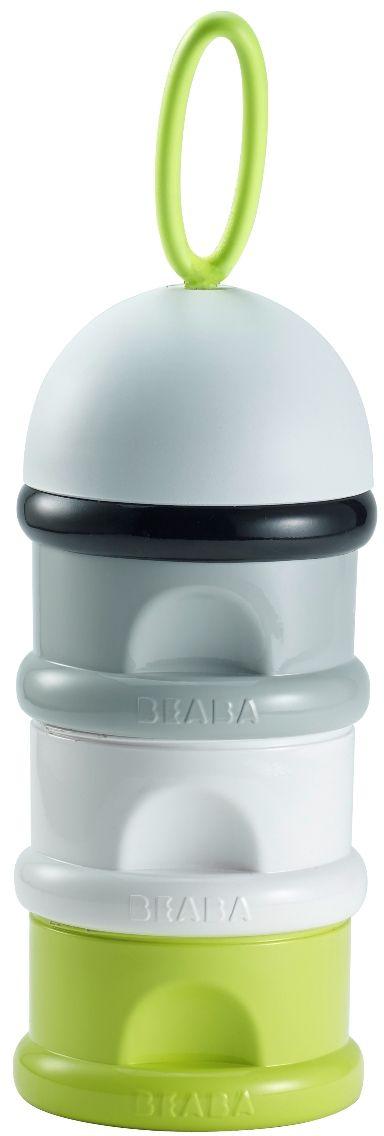 Beaba Контейнер для детской смеси цвет серый белый зеленый
