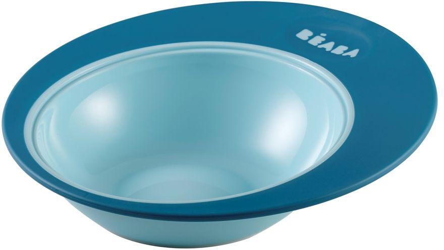 Beaba Тарелка для кормления Ellipse цвет голубой синий913390Тарелка имеет высокие и широкие края для удобного перемешивания, ее выгнутое дно предназначено для естественного распределения пищи по тарелке и удобного захвата ребенком. Имеет нескользящее основание. Тарелочку можно использовать в микроволновой печи, она прекрасно сохраняет тепло. Цвета в ассортименте: фиолетовый салатовый пастельный голубой пастельный розовый. Использование: с 6 месяцев. Объем тарелки: 210 мл.