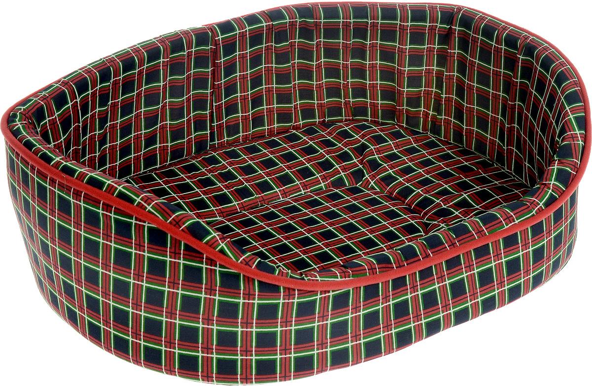 Лежак для животных Каскад Клетка. № 5, цвет: красный, черный, зеленый, 58 х 46 х 17 см91002897_красный, черный, зеленыйЛежак Каскад Клетка. № 5, выполненный из высококачественного текстиля, обязательно понравится вашему питомцу. Высокие борта обеспечат вашему любимцу уют, ему сразу же захочется забраться на лежак, там он сможет отдохнуть и подремать в свое удовольствие. Мягкий лежак станет излюбленным местом вашего питомца, подарит ему спокойный и комфортный сон, а также убережет вашу мебель от многочисленной шерсти.