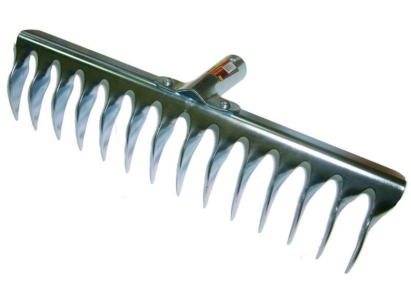 Грабли Skrab витой зуб, без рукоятки. 2806728067Грабли витые 14 зубьев, без черенка. Предназначены для очистки почвы от сорняков, корневищ, листьев и веток, а также выравнивания почвы после перекопки. Изготовлены из нержавеющей стали.