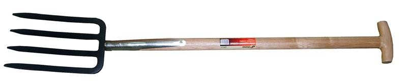 Вилы Skrab 4-х зубцевые, для почвы, 850мм. 2813128131Вилы садовые 4-х зубые ЦЕЛЬНОКОВАННЫЕ (деревянный черенок). Размер: 180х280х520мм.. Т-образная ручка. Длина: 1112мм. Металлическая часть изготовлена из высокоуглеродистой стали с добавлением марганца. Закалена и имеет защитное покрытие. Деревянный черенок изготовлен из твердых пород дерева высшего сорта. Применяется для рыхления почвы, а также сбора корнеплодов.