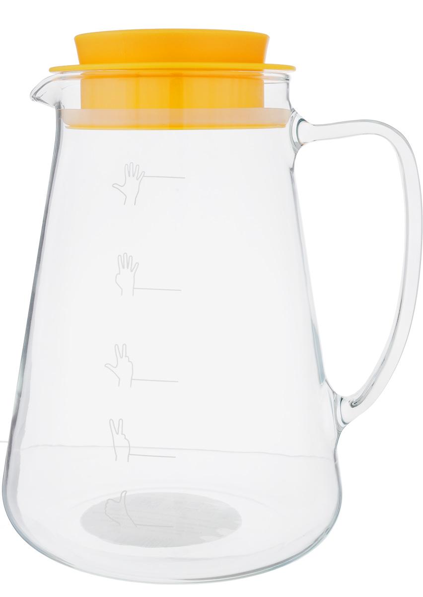 Кувшин для пива Tescoma My Drink, 2,5 л308810Кувшин Tescoma My Drink, изготовленный из высококачественного термостойкого боросиликатного стекла, предназначен для разливного пива. Кувшин оснащен удобной ручкой, носиком для слива жидкости и плотно закрывающейся пластиковой крышкой с силиконовым уплотнителем. Во время переноса кувшина пиво не протекает и более длительное время сохраняет пену и аромат. Можно мыть в посудомоечной машине. Высота кувшина (без учета крышки): 22 см. Диаметр кувшина (по верхнему краю): 10 см. Диаметр основания: 16 см. Уважаемые клиенты! Обращаем ваше внимание на тот факт, что мерка на стенке кувшина носит ориентировочный характер и не откалибрована.