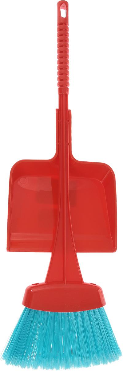 Набор для уборки Альтернатива Мини, детский, цвет: бирюзовый, красный, 2 предметаМ2175_бирюзовый, красныйДетский практичный и экономичный набор для уборки Альтернатива Мини состоит из веника и совка. Предметы набора изготовлены из прочного пластика и полимера и оснащены ручками с петельками, которые позволят повесить их на крючок. Жесткий и длинный ворс веника позволит собрать мусор из самых труднодоступных мест. Ширина рабочей поверхности совка: 13 х 15,5 см. Длина ручки совка: 8 см. Длина ворса веника: 8,5 см. Длина ручки веника: 40 см.