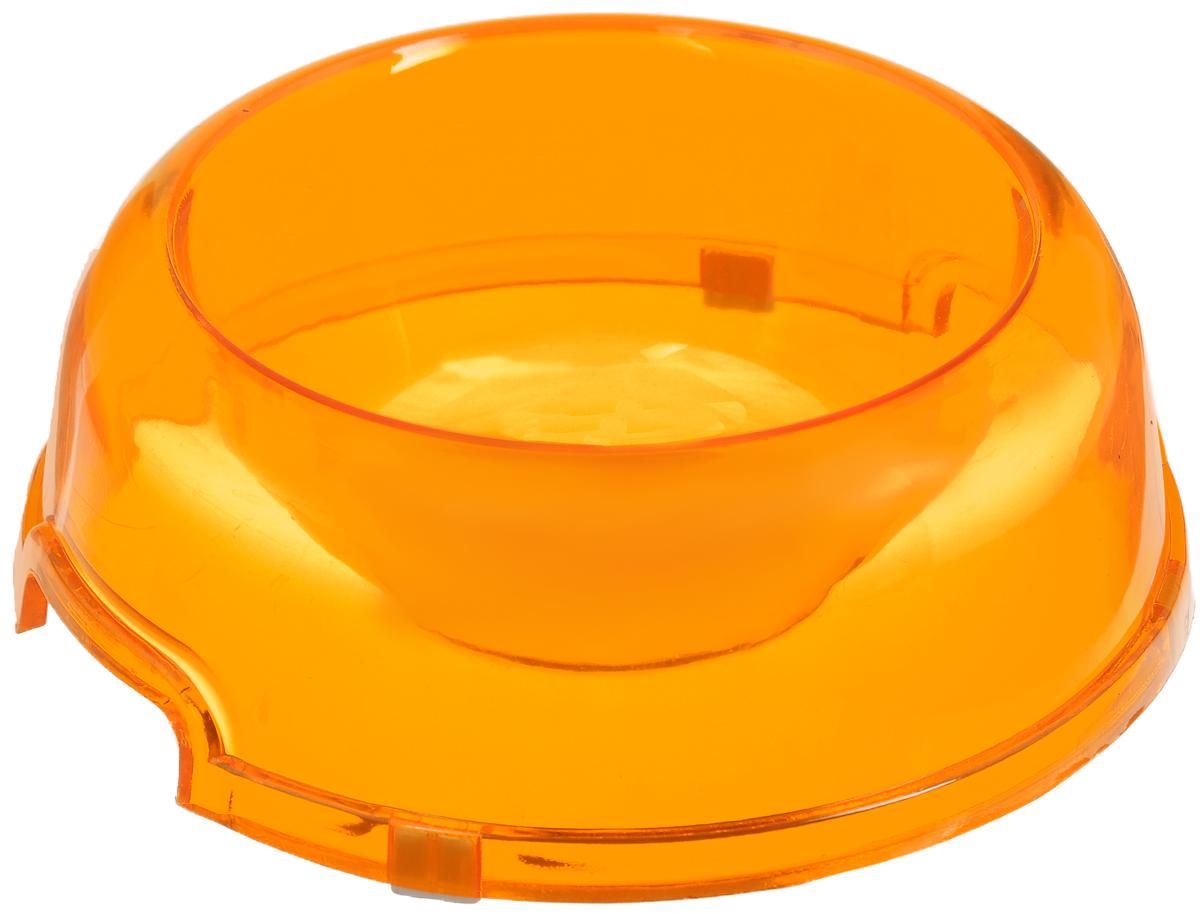 Миска для животных Каскад, цвет: оранжевый, 300 мл8301724Миска для животных Каскад изготовлена из высококачественного пластика и предназначена для корма и воды. Она порадует удобством использования как самих животных, так и их хозяев. Яркий дизайн придаст изделию индивидуальность и удовлетворит вкус самых взыскательных зоовладельцев. Изделие снабжено нескользящими резиновыми вставками на основании, устойчивыми на любой поверхности. Объем: 300 мл. Диаметр миски (по верхнему краю): 10,5 см. Диаметр основания: 15,5 см. Высота миски: 6 см.