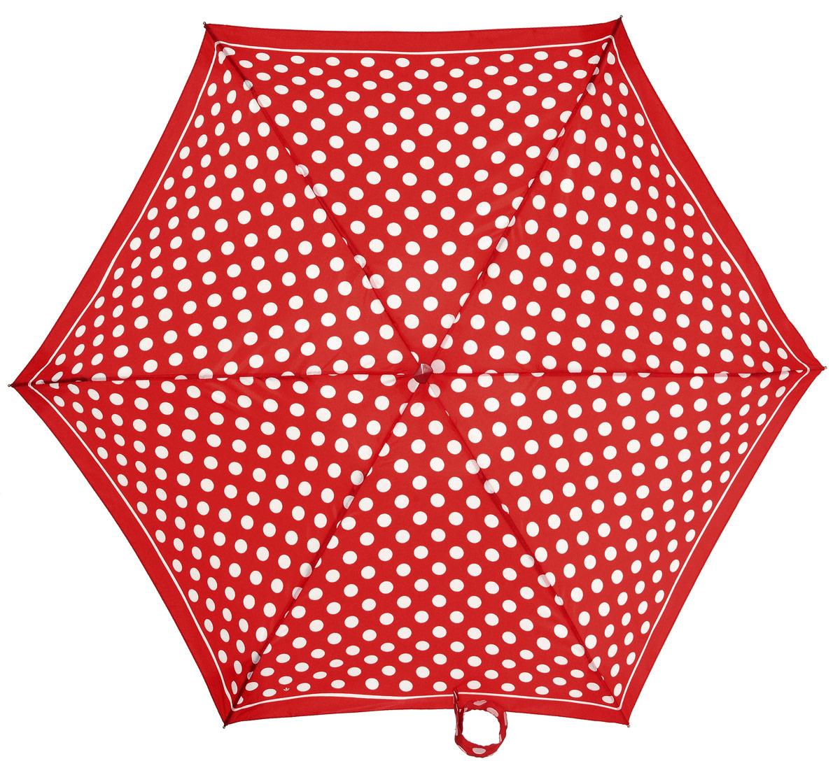 Зонт женский механика Fulton, расцветка: красный горох. L501-2237 RedSpotL501-2237 RedSpotПрочный, необыкновенно компактный зонт, который с легкостью поместится в маленькую сумочку. Удобный плоский чехол. Облегченный алюминиевый каркас с элементами из фибергласса. Ветроустойчивая конструкция. Размеры зонта в сложенном виде 15смх6смх3см, диаметр купола 87 см.