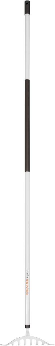 Грабли для роз облегченные Fiskars Light, 160 см1019607Облегченные грабли Fiskars Light для роз подходят для уборки, распределения почвы или дерна на небольшой площади вокруг грядок и между растениями. Грабли особой формы из закаленной стали подходят для работы в узком пространстве между растениями или под ними. Алюминиевый черенок станет удобным подспорьем в работе для женщин. Пластиковое покрытие на черенке обеспечивает теплоизоляцию. Специальное отверстие позволяет повесить грабли на гвоздь для удобства хранения. Длина граблей: 160 см.