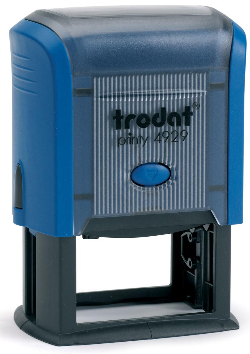Trodat Оснастка для штампа 50 х 30 мм4929Оснастка для штампа Trodat будет незаменима в отделе кадров или в бухгалтерии любой компании. Прочный пластиковый корпус с автоматическим окрашиванием гарантирует долговечное бесперебойное использование. Модель отличается высочайшим удобством в использовании и оптимально ложится в руку. Оттиск проставляется практически бесшумно, легким нажатием руки. Улучшенная конструкция и видимая площадь печати гарантируют качество и точность оттиска. Текстовые пластины прямоугольной формы 50 х 30 мм подойдут для изготовления клише по индивидуальному заказу. Модель оснащена кнопкой блокировки. Оснастка для штампа Trodat идеальна для ежедневного использования в офисе.