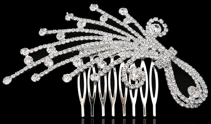 Гребень для волос Звездный дождь от D.Mari. Прозрачные кристаллы и стразы, бижутерный сплав серебряного тона. Гонконг332979Гребень для волос Звездный дождь от D.Mari, для вечерних и свадебных причесок. Прозрачные кристаллы и стразы, бижутерный сплав серебряного тона. Гонконг. Размер - 11 х 6 см.