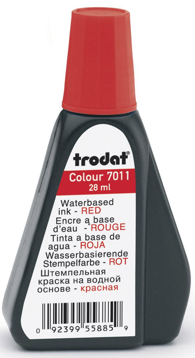 Trodat Штемпельная краска красная 28 мл ( 7011к )