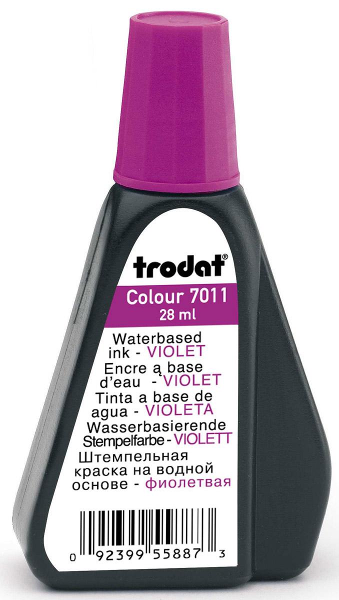 Trodat Штемпельная краска фиолетовая 28 мл ( 7011ф )