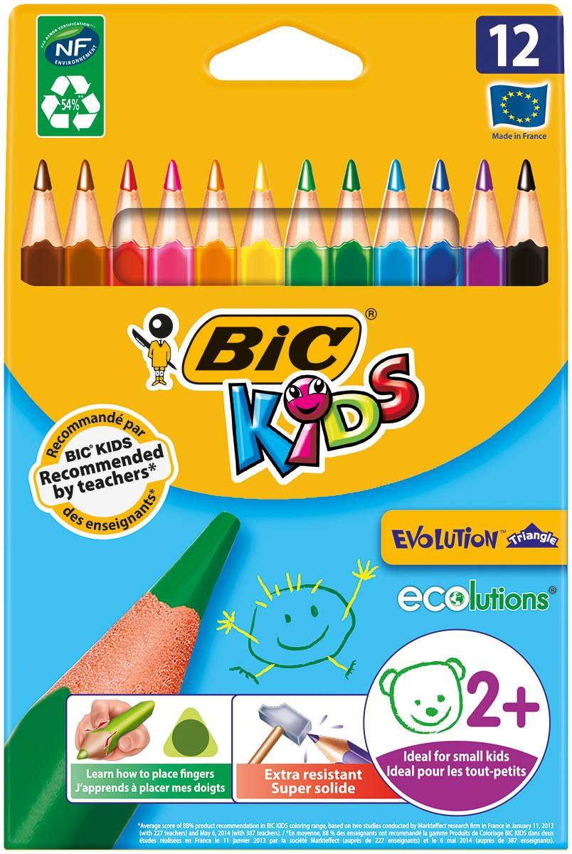 Bic Набор цветных трехгранных карандашей Evolution 12 цветов B829735