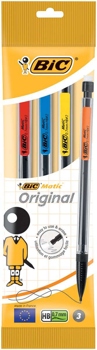 Bic Набор карандашей чернографитных механических Matic 3 шт