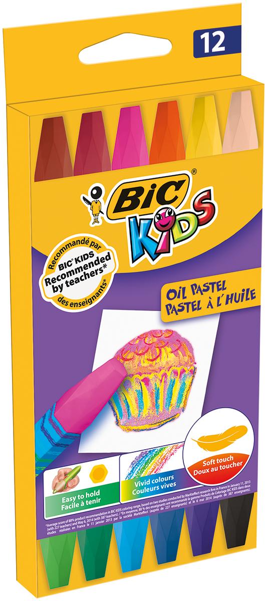 Bic Краска пастель масляная Kids 12 цветов