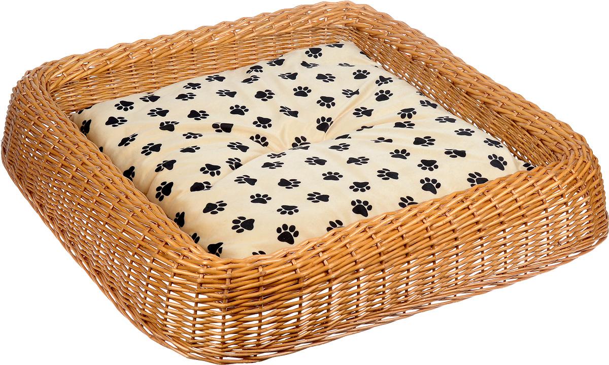 Лежанка для животных Каскад №5, плетеная, 92 х 91 х 16 см91002692Лежанка для животных Каскад №5, изготовленная из лозы ротанга, дополнена мягкой подушкой и высокими плетеными бортиками. Материал чехла подушки выполнен из мягкого и приятного на ощупь текстиля, наполнитель - полиэстер. Такая лежанка станет любым местом вашего питомца. Благодаря качественному изготовлению лежанка не повредит напольное покрытие. Размер лежанки: 92 х 91 х 16 см. Размер подушки: 64 х 64 х 4,5 см.
