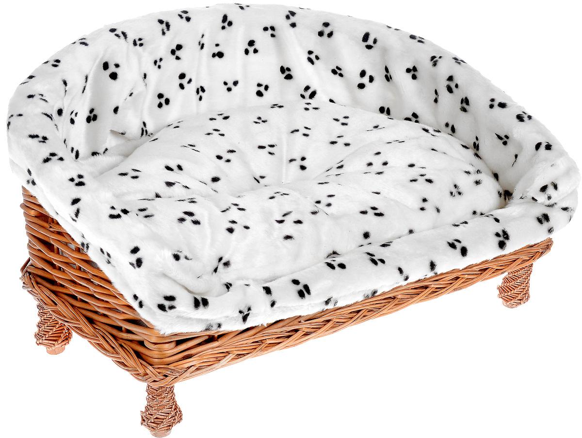 Лежак-диван Каскад Ирбис. №2, плетеный, 65 х 52 х 34 см91002776Лежак-диван для животных Ирбис. №2, изготовленный из лозы ротанга, дополнен мягкой подушкой и высокими плетеными бортиками с мягкой обивкой. Материал чехла подушки и обивки выполнен из мягкого и приятного на ощупь текстиля, наполнитель - полиэстер. Такой лежак-диван станет любым местом вашего питомца. Благодаря качественному изготовлению лежак-диван не повредит напольное покрытие.