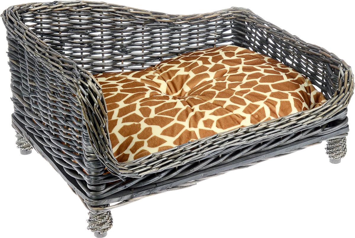 Лежак-диван Каскад №2, плетеный, угловой, 60 х 44 х 32 см91002785Угловой лежак-диван для животных Каскад №2, изготовленный из лозы ротанга, дополнен мягкой подушкой и высокими плетеными бортиками. Материал чехла подушки выполнен из мягкого и приятного на ощупь текстиля, наполнитель - полиэстер. Такой лежак-диван станет любым местом вашего питомца. Благодаря качественному изготовлению лежак-диван не повредит напольное покрытие.