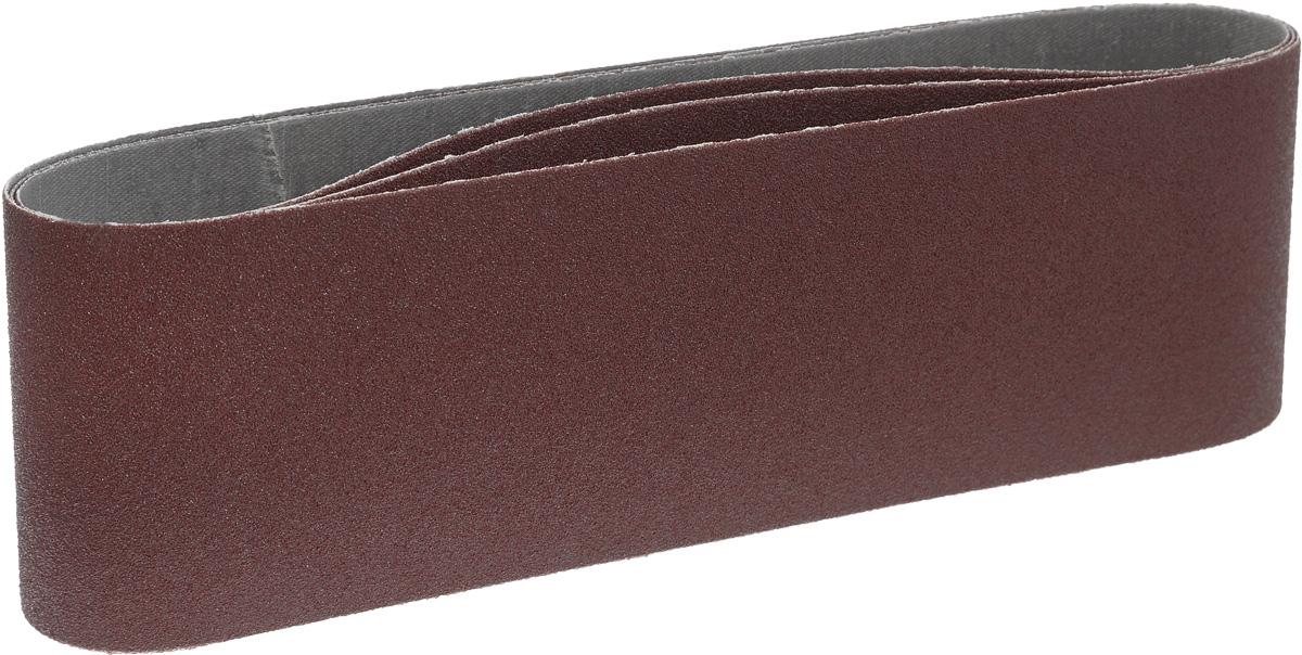 Набор шлифовальных лент Hammerflex, 75 х 533 мм, зерно Р80, 3 шт29399Лента шлифовальная Hammerflex предназначена для использования с ленточными шлифмашинами. Изготовлена из качественного абразивного сырья высокой твердости и стойкости к разрушению. Прочная тканевая основа обладает низким растяжением при работе. Современная технология склейки ленты исключает вероятность ее разрыва в области соединения. Применяется для зачистки различных поверхностей: мягкой и твердой древесины, ДСП, ДВП, фанеры, ламината, а также работ по металлу. В комплекте - 3 ленты. Материал: абразивное сырье, текстиль.