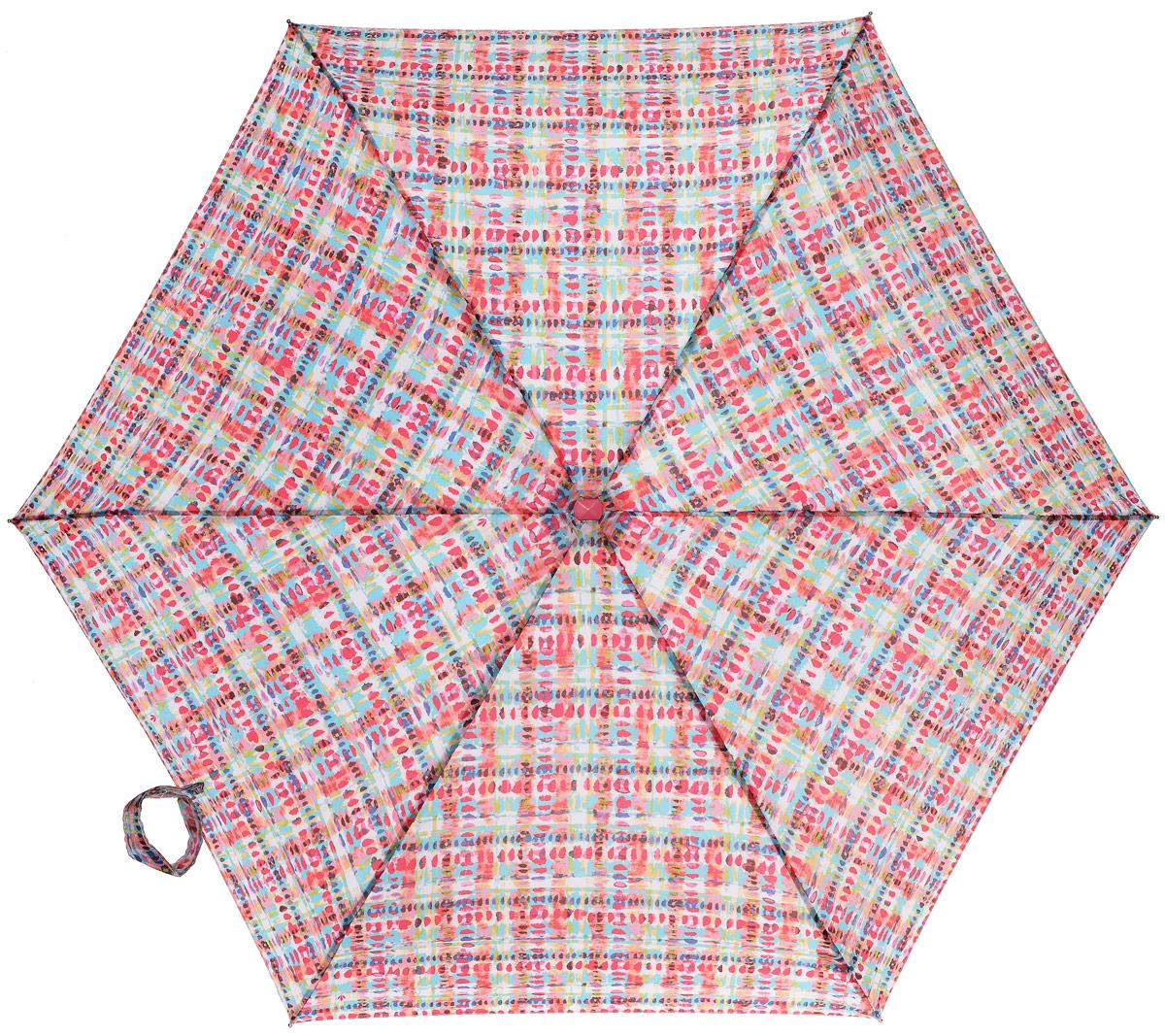 Зонт женский механика Fulton, расцветка: клетка. L501-3166 Watercolour CheckL501-3166 WatercolourCheckПрочный, необыкновенно компактный зонт, который с легкостью поместится в маленькую сумочку. Удобный плоский чехол. Облегченный алюминиевый каркас с элементами из фибергласса. Ветроустойчивая конструкция. Размеры зонта в сложенном виде 15смх6смх3см, диаметр купола 87 см.