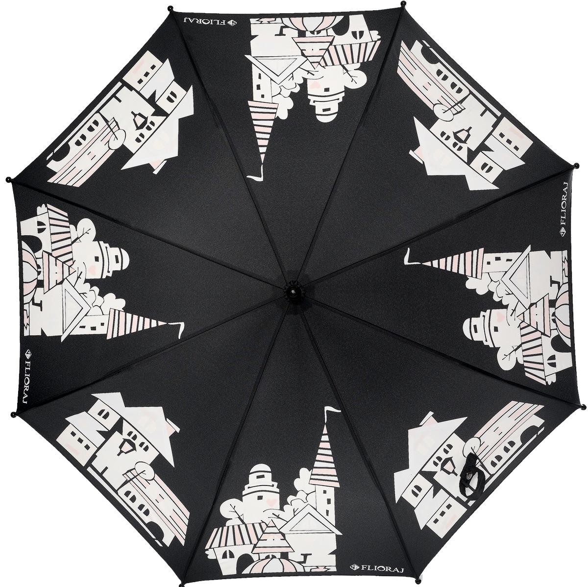 Зонт детский Flioraj 051207051207 FJСказочный зонт-раскраска! Дождь раскрасит безликие, белые здания в радужные, веселые домики. Под таким зонтом дождь - только в радость. Широкий выбор расцветок позволит найти подходящий вариант. Детский зонтик Flioraj с поверхностью реагирующей на воду, при намокании рисунок становится цветным, он обязательно понравится Вам и Вашему ребенку! Предназначен для детей младшего и среднего школьного возраста. Для удобства предусмотрена безопасная технология открывания и закрывания зонта. Спицы зонта изготовлены из долговечного, но при этом легкого фибергласса, что делает его ветроустойчивым и прочным.