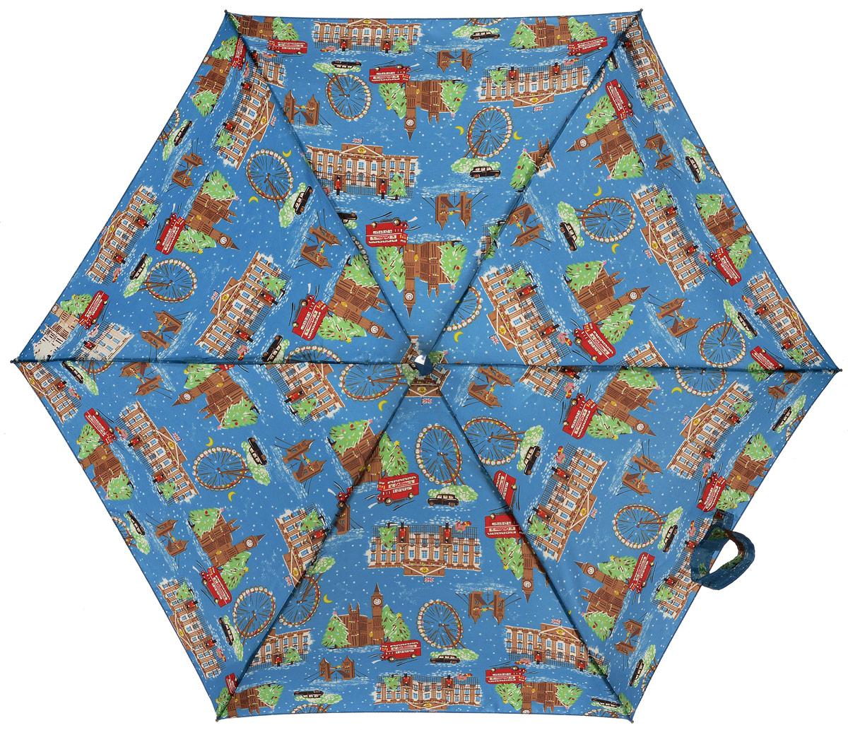 Зонт женский механика Cath Kidston Fulton, расцветка: лондон. L739-2650 LondonChristmasL739-2650 LondonChristmasПрочный, необыкновенно компактный зонт в подарочной упаковке Удобный плоский чехол. Облегченный алюминиевый каркас с элементами из фибергласса. Ветроустойчивая конструкция. Размеры зонта в сложенном виде 15смх6смх3см, диаметр купола 87 см.