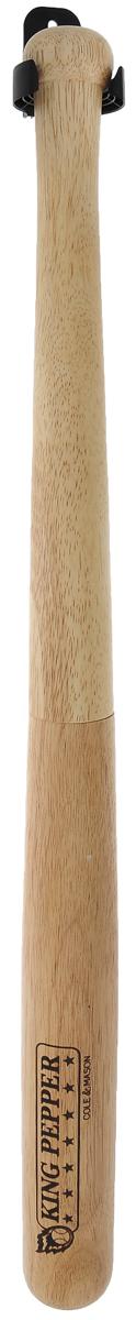 Мельница для перца Cole & Mason King Pepper, длина 72 смH448240Мельница для перца Cole & Mason King Pepper изготовлена из дерева и стали. Изделие выполнено в виде бейсбольной биты. Мельница проста в использовании: стоит только покрутить верхнюю часть мельницы и вы с легкостью сможете поперчить по своему вкусу любое блюдо. В набор входит специальное крепление с шурупом, на которое можно вешать мельницу. Мельница для перца Cole & Mason King Pepper - это отличный подарок для тех, кто неравнодушен к бейсболу и кулинарии. Длина мельницы: 72 см.