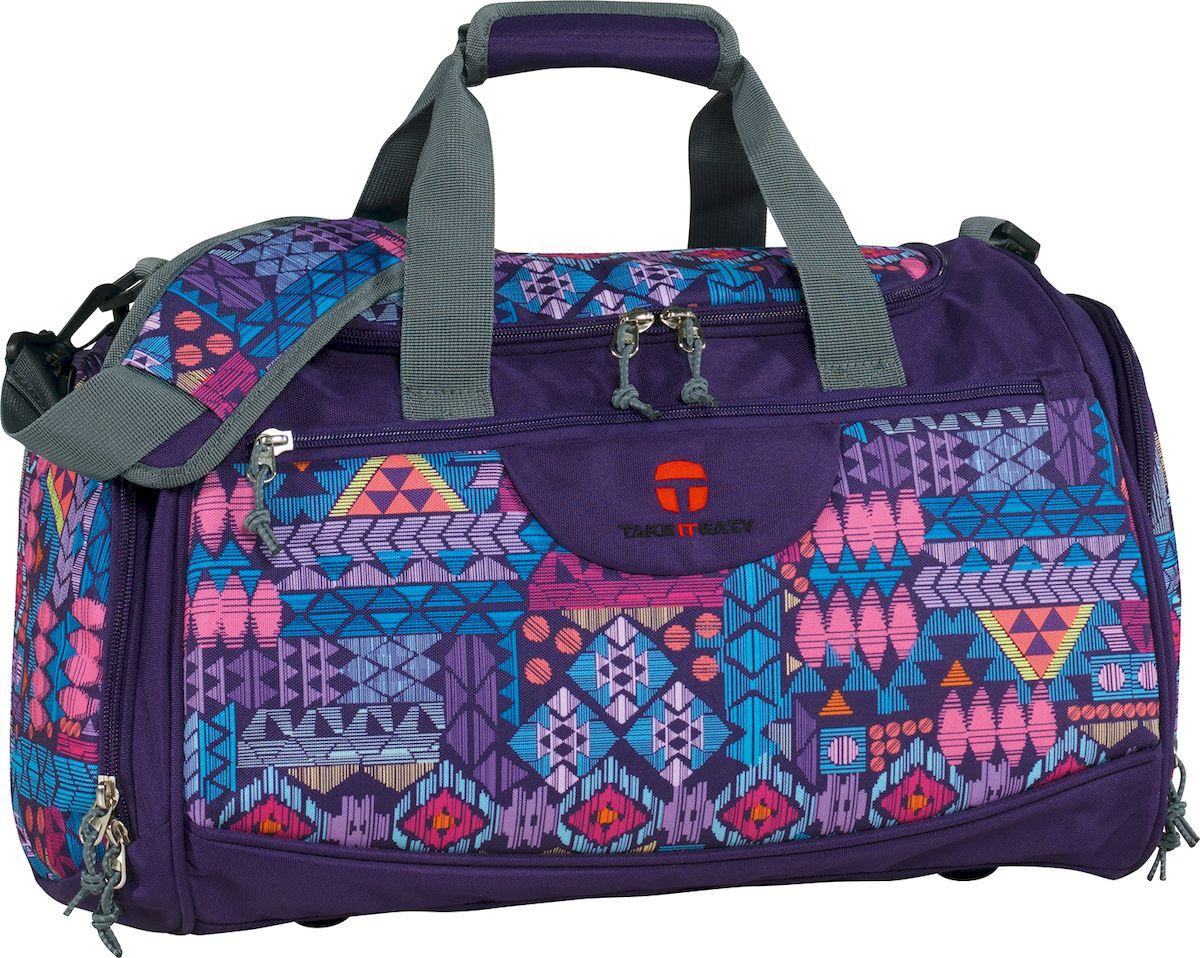Take It Easy Сумка спортивная Rom Ацтеки цвет лиловый