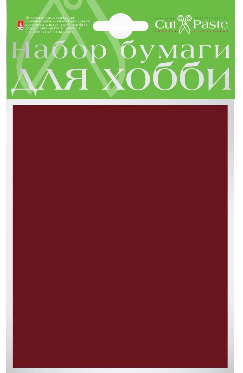 Альт Набор бумаги для хобби цвет коричневый 10 листов формат А6 2-064/14
